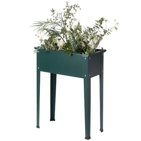 Gardenised Green Freestanding Raised Garden Bed Rectangular Flower Planter - image 1 of 4