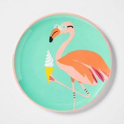 10.4  Plastic Flamingo Dinner Plate - Sun Squad™