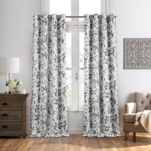 Avalon Botanical Print Blackout Window Curtain Panel - Elrene Home Fashions - image 1 of 3