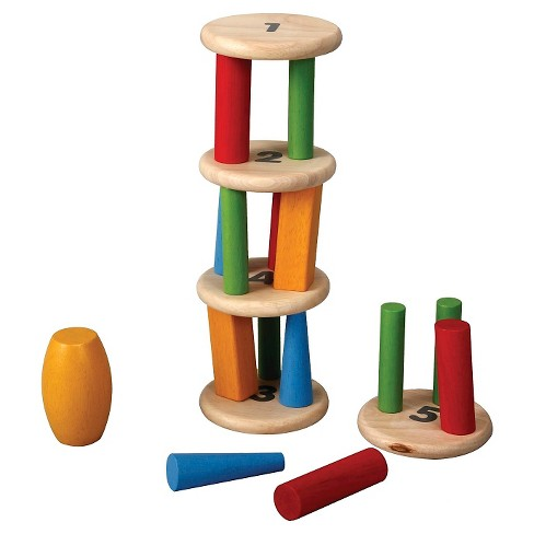 PlanToys® Plan Preschool Tower Tumbling Game And Puzzle   Target f1d413037462