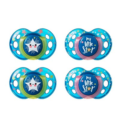 Tommee Tippee Night Time Orthodontic Pacifiers 18-36m - 4pk