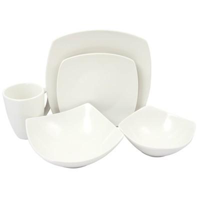 Gibson Home 30pc Ceramic Zen Buffetware Dinnerware Set White