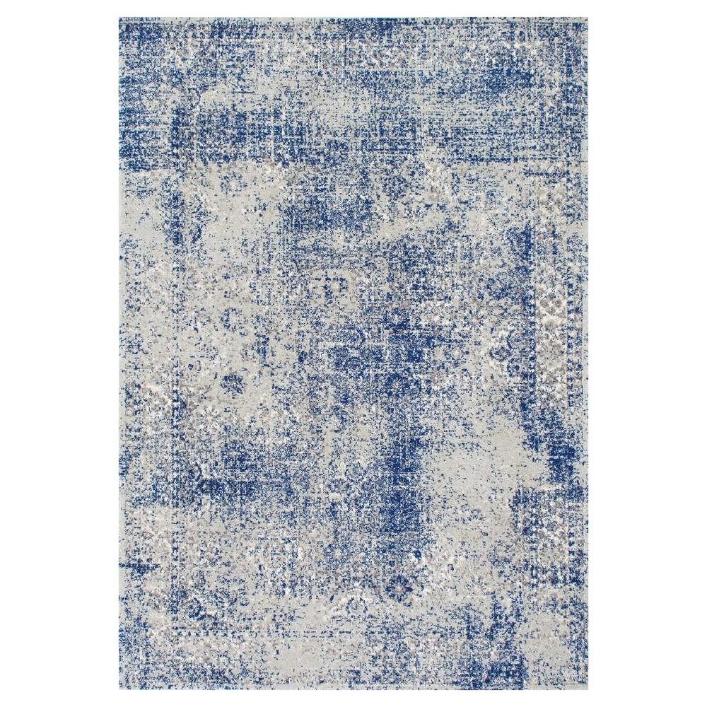 Blue Solid Loomed Area Rug - (5'x7'5) - nuLOOM