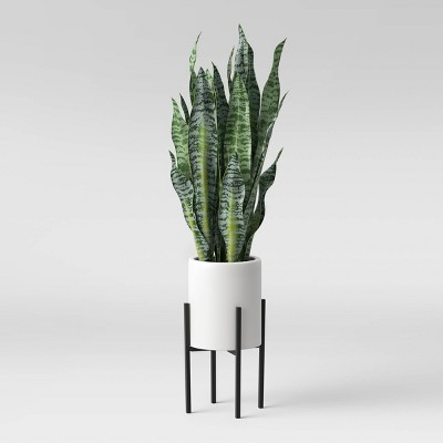 "36"" x 10"" Artificial Snake Plant in Standing Planter Green/White - Project 62™"