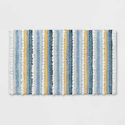 "20""x32"" Textured Bath Rug Aqua - Opalhouse™"