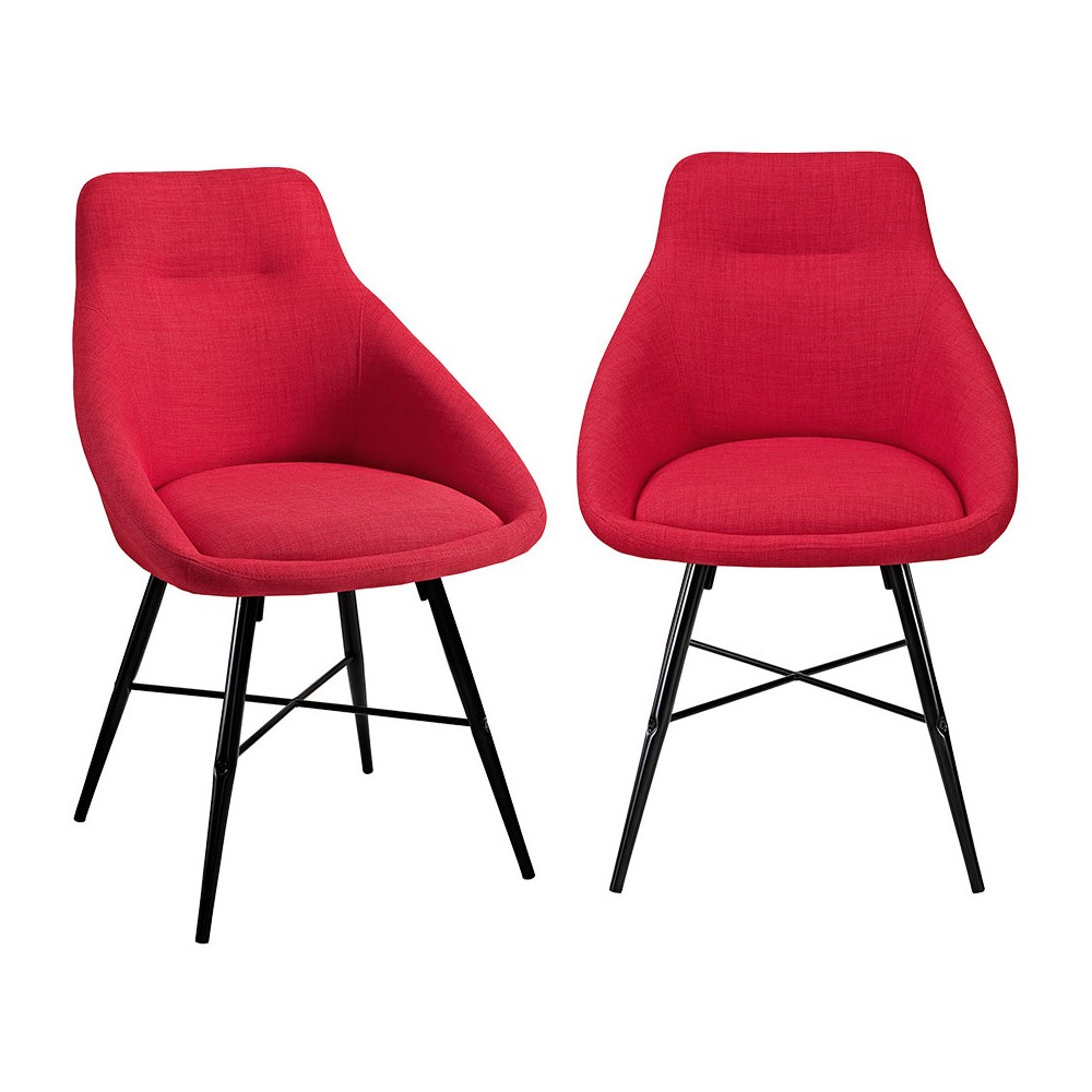 Urban Upholstered Side Chair, Set of 2 Red - Saracina Home