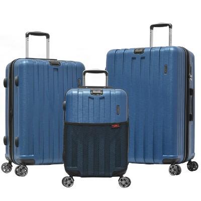 Olympia USA Sidewinder 3pc Luggage Set - Navy