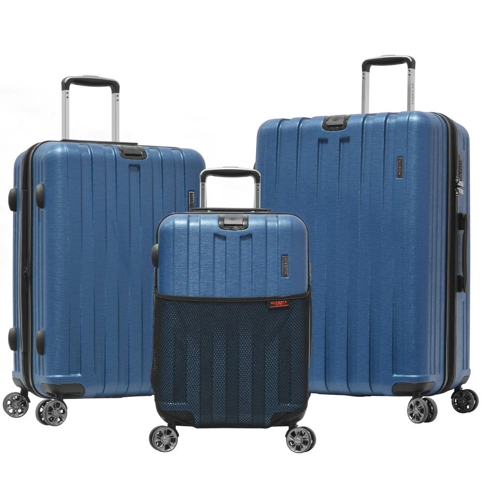 Image of Olympia USA Sidewinder 3pc Luggage Set - Navy, Blue
