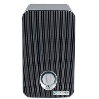 GermGuardian 3 in 1 Air Purifier Table Top Tower With 2 Bonus Carbon Filters Gray