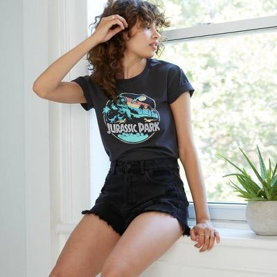 Women's Jurassic Park Short Sleeve Graphic T-Shirt - Black