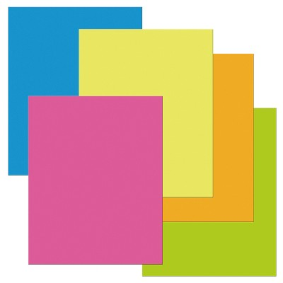 Pacon Heavy-Duty Poster Board, 22 x 28 Inches, Assorted Neon, pk of 25