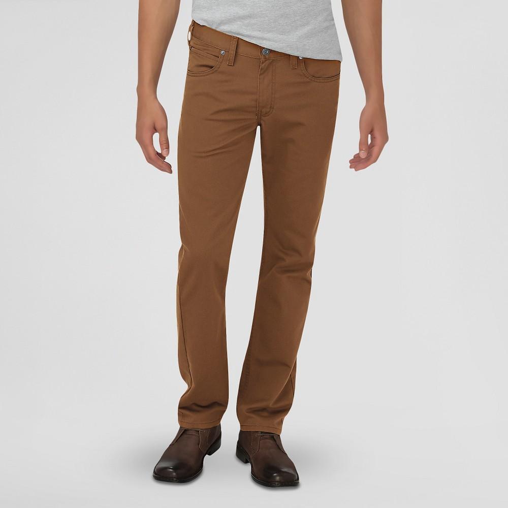 Dickies Men's Slim Fit 5-Pocket Pants Dark Brown 28X32