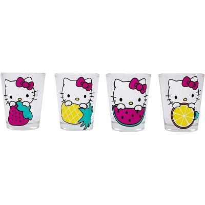 Hello Kitty 4 Piece 1.5oz Mini Glass Set