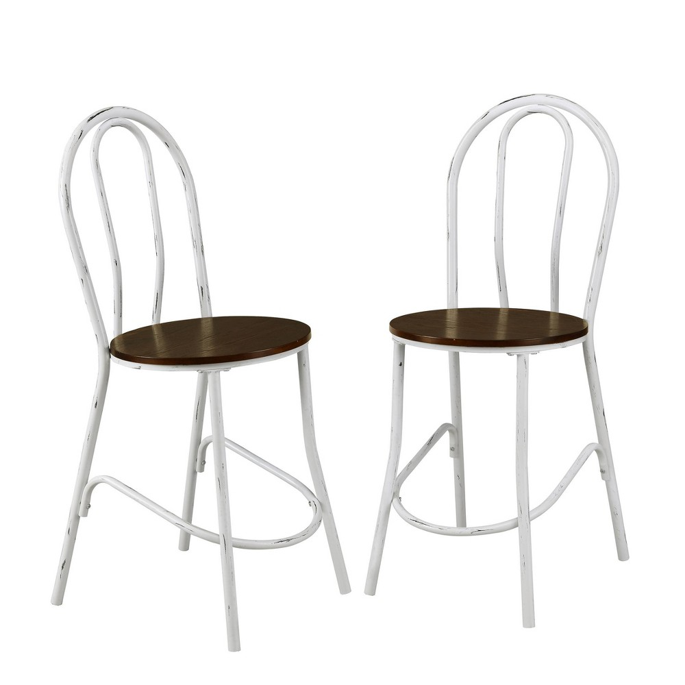 Set Of 2 24 34 Zaid Wood Seat Caf 233 Counter Height Barstools White Elm Carolina Chair 38 Table
