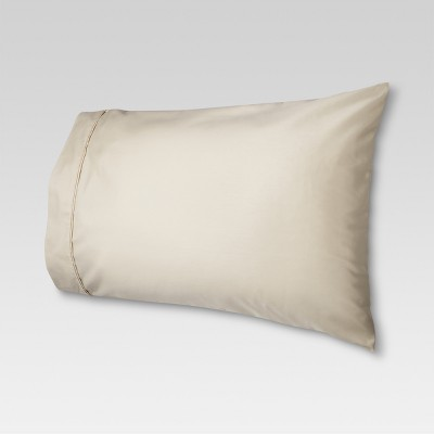 Performance Solid Pillowcase (King)Linen Brown 400 Thread Count - Threshold™