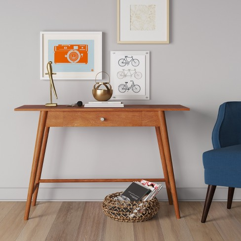Amherst Mid Century Modern Desk Console Table Brown Project 62