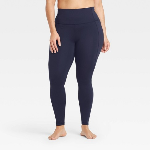 Women's Contour Power Waist High-Waisted Leggings with Stash Pocket - All in Motion™ - image 1 of 4