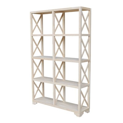 """71.9"""" 8 Shelf Room Divider Unfinished - International Concepts"""