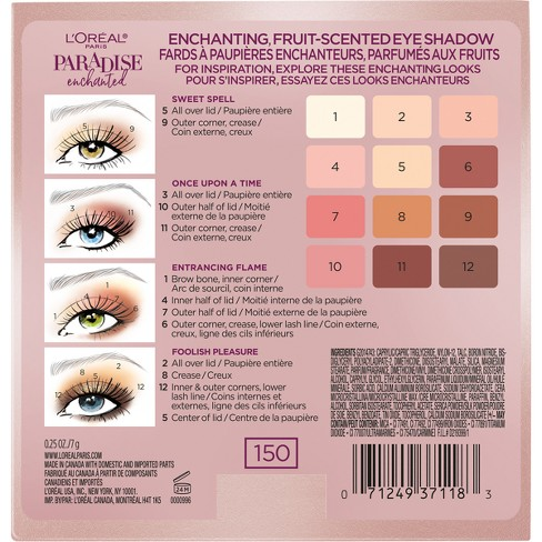 0636ea8bb36 L'Oral Paris Paradise Enchanted Scented Eyeshadow Palette - 0.25 Fl Oz :  Target