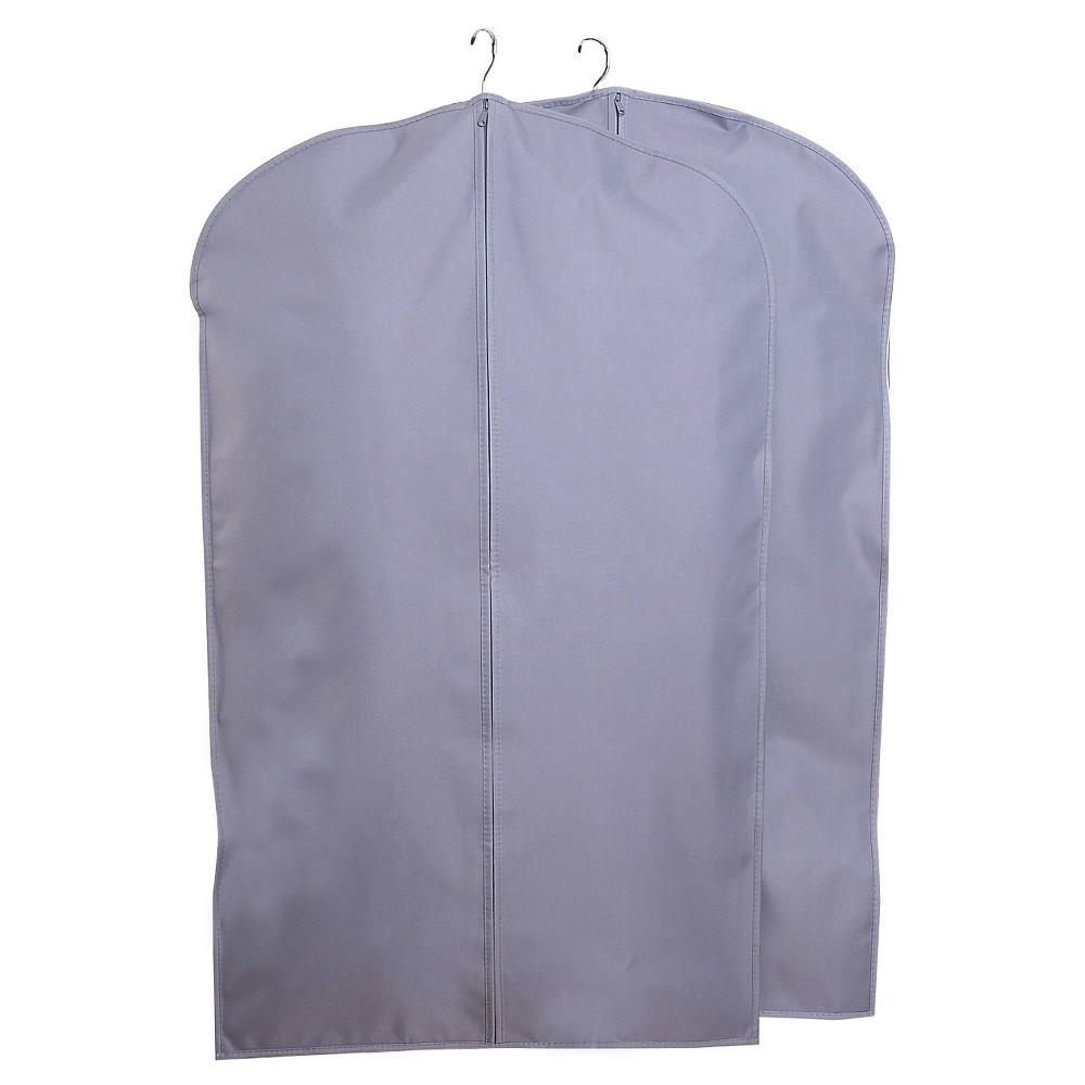 2pk Suit Protector Garment Bag Gray - Room Essentials