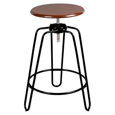 Adjustable Height Hairpin Barstool   Black   Silverwood