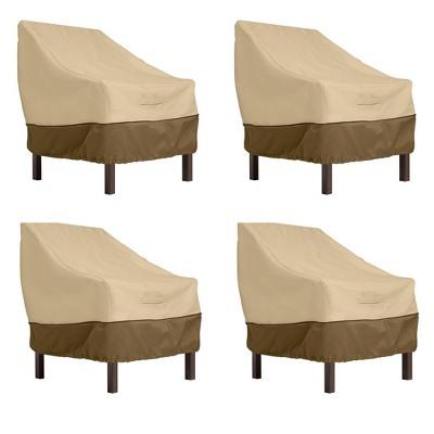 4pk Veranda Standard Dining Patio Chair Cover - Classic Accessories