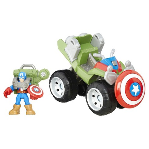 Playskool Heroes Marvel Super Hero Adventures Jungle ATV Captain America - image 1 of 2