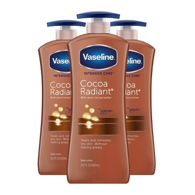 Vaseline Intensive Care Cocoa Radiant Hand and Body Lotion - 3pk/20.3 fl oz
