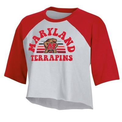 NCAA Maryland Terrapins Women's Short Sleeve Cropped T-Shirt