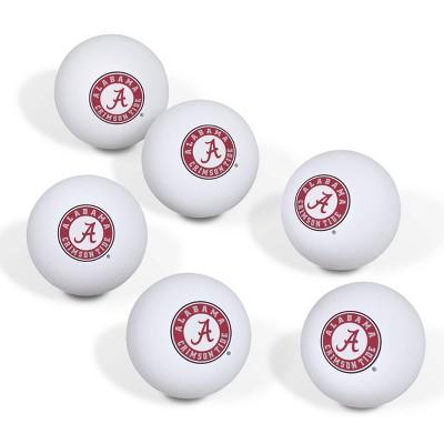 NCAA Alabama Crimson Tide Table Tennis Balls 6pk