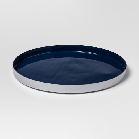 Enamel Tray Large - Navy/Silver - Project 62™ - image 1 of 2