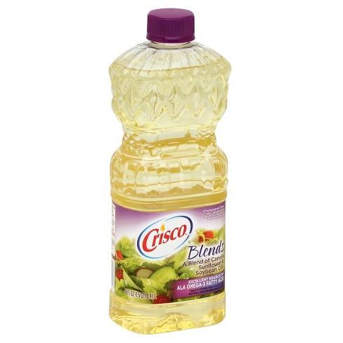 Crisco Natural Blend Vegetable & Canola Oil 48 Oz : Target
