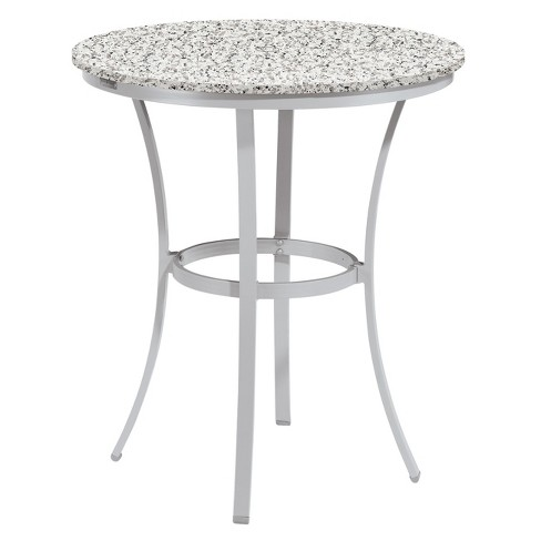 Travira 36 Round Patio Bar Table Powder Coated Aluminum Frame