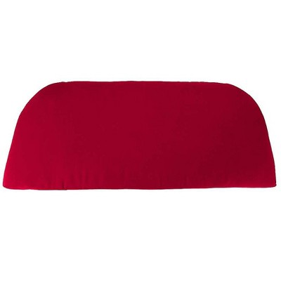 """Plow & Hearth - Polyester Classic Swing/Bench Cushion, 41"""" x 18.75"""" x 3"""", Barn Red"""