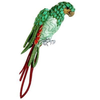 """Allstate Floral 22.5"""" Green and Red Parrot with Tail Feathers Tabletop Decor"""
