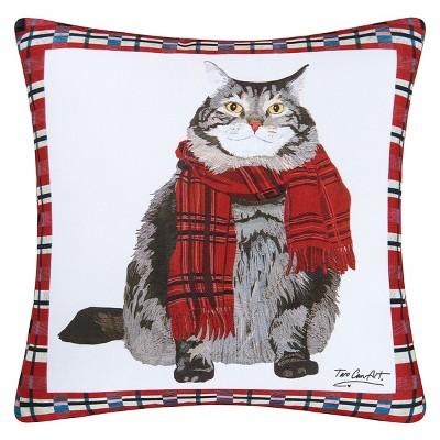"""C&F Home 18"""" x 18"""" Fat Cat Indoor / Outdoor Pillow"""