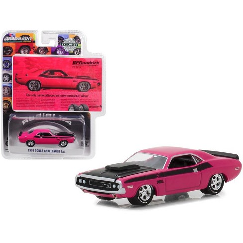1970 Dodge Challenger Pink BFGoodrich Vintage Ad Cars Hobby Exclusive 1/64 Diecast Model Car by Greenlight - image 1 of 1