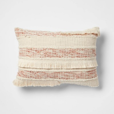 Oblong Fringe Throw Pillow Natural - Opalhouse™