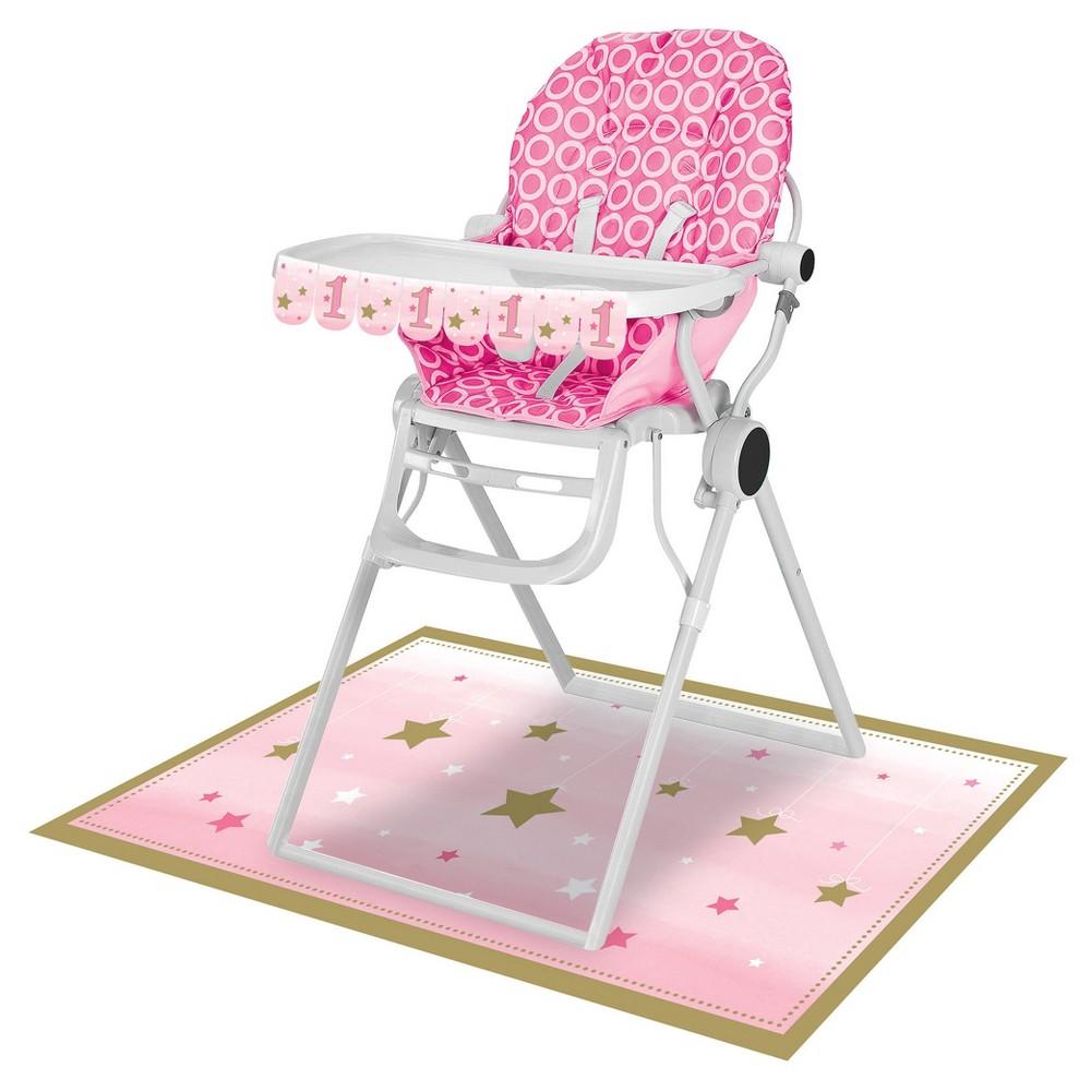 One Little Star Girl High Chair Kit