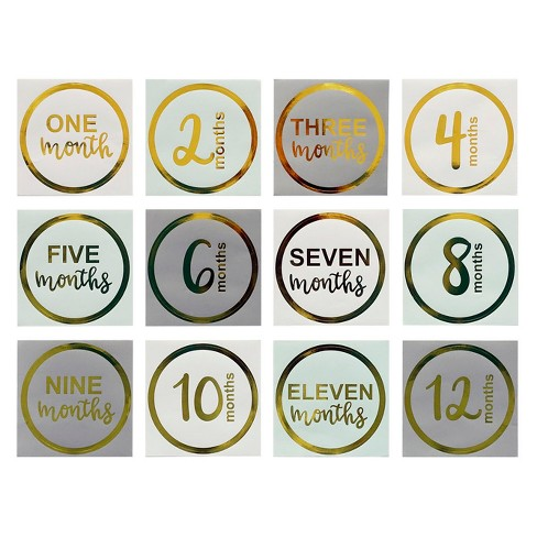 12ct Months Stickers - Spritz™ - image 1 of 1