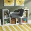 KidKraft Children's Bookcase with Reading Nook and Cushions, White | 14230 - image 3 of 4