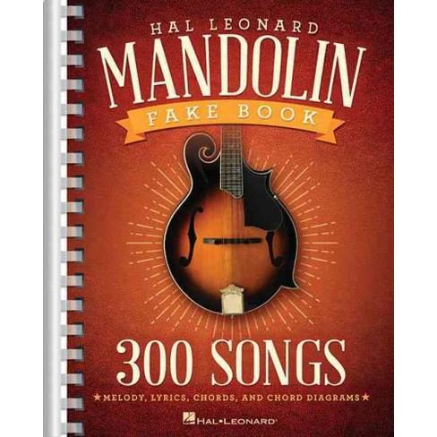 Hal Leonard Mandolin Fake Book Paperback Target