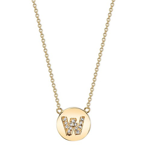 00f721dfdfba Women's Pave Letter Necklace - Gold : Target