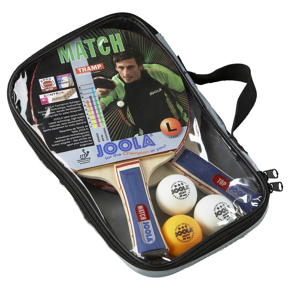 Joola Table Tennis Duo Racket Set (Includes 2 Different Rackets, 3 Balls, Carrying Case)