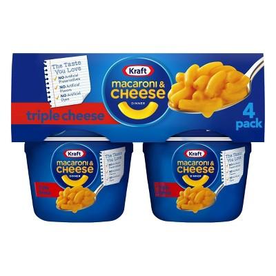 Kraft Triple Cheese Macaroni & Cheese Dinner 4pk