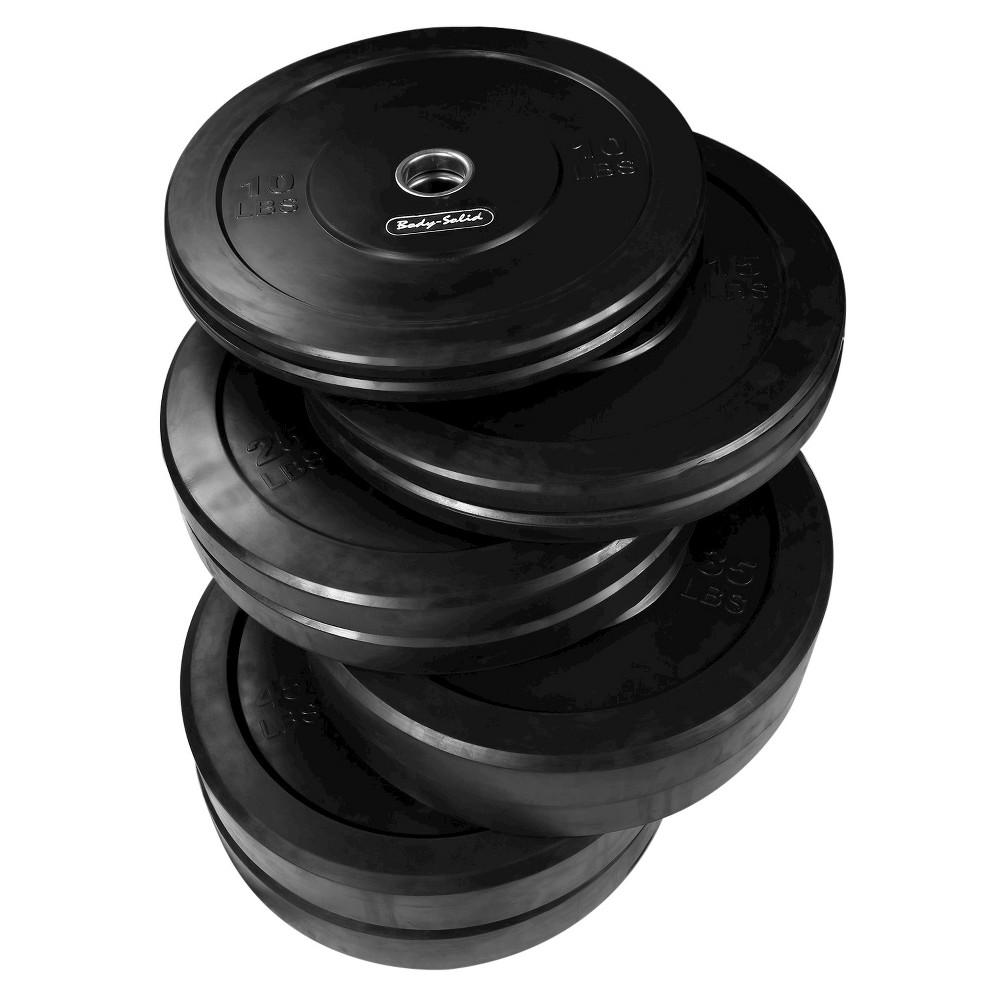 Body Solid Olympic Bumper Plates 260LB set Black, Multi-Colored