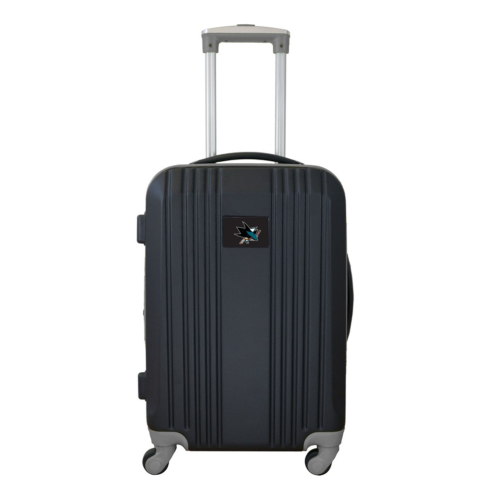 NHL San Jose Sharks 21 Hardcase Two-Tone Spinner Carry On Suitcase