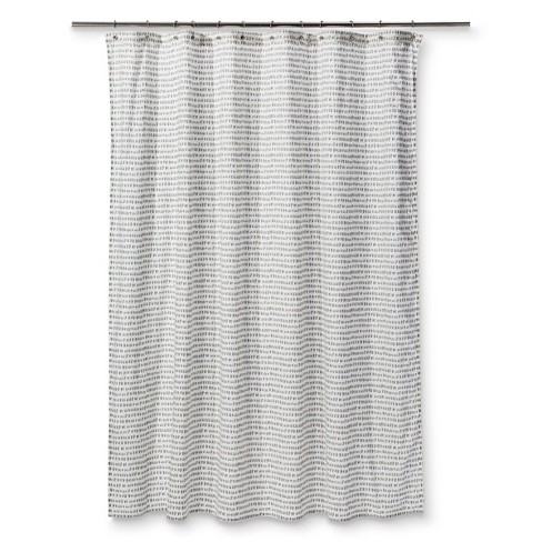 Carefree Shapes Drizzle Shower Curtain Gray - Project 62™ - image 1 of 1