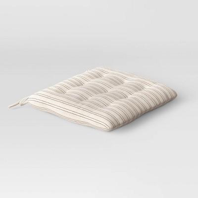 Cotton Striped Chair Pad Black/Natural - Threshold™