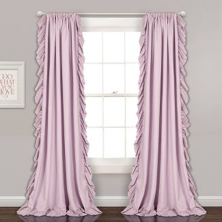 "2pc 54""x84"" Reyna Window Curtain Set Lilac - Lush Décor"